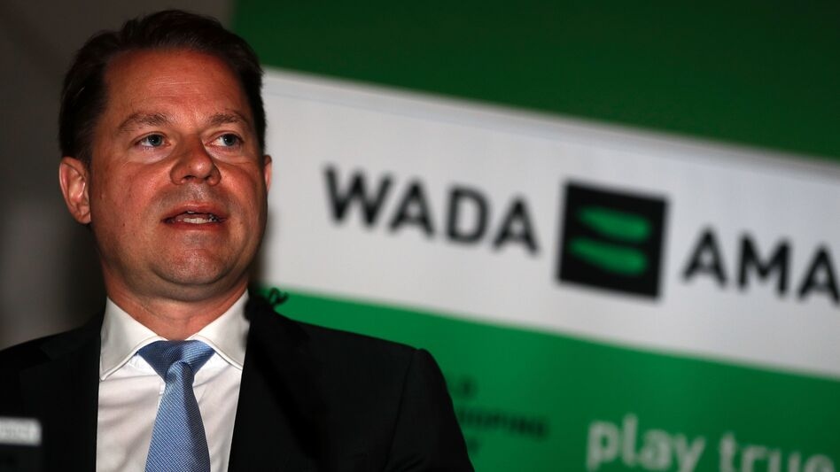 """WADA has been informed by law enforcement authorities that these attacks are originating out of Russia,"" says Olivier Niggli, the anti-doping agency's chief operating officer and general counsel. (Adrian Dennis/AFP/Getty Images)"
