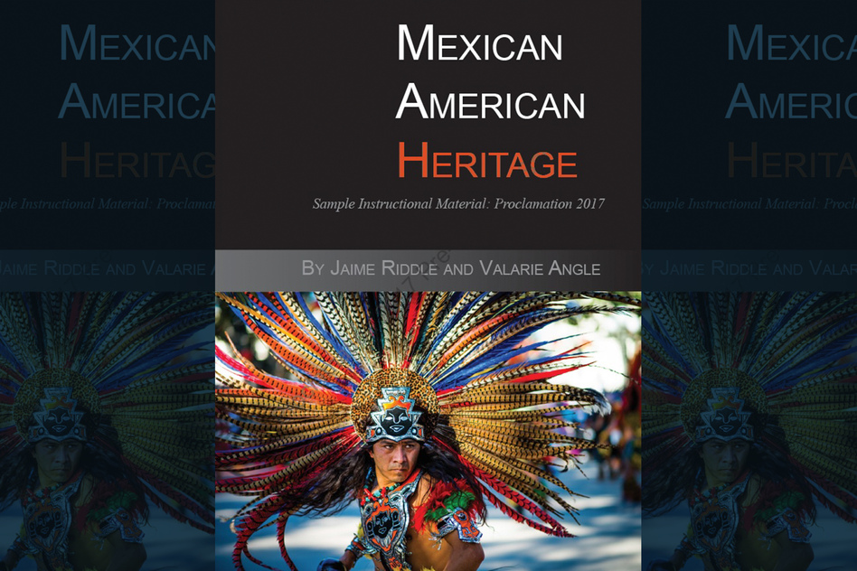 """Critics voice concern over this proposed Mexican-American heritage textbook. Some scholars on in the subject say that the textbook, <em>""""Mexican American Heritage,""""</em> is riddled with factual errors, is missing content and promotes racism and culturally offensive stereotypes. (Courtesy of Momentum Instruction)"""