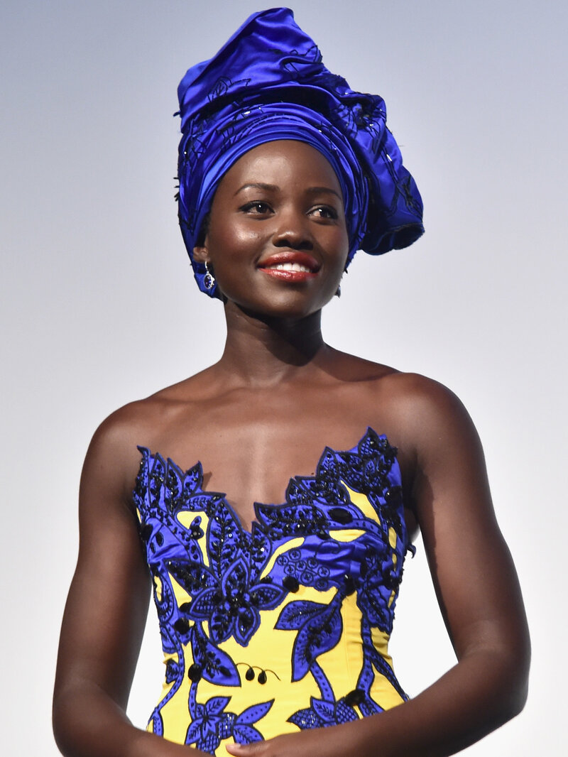 Lupita Nyong'o Is Wearing African-Style Head Wraps, But Is