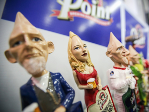 AJS made these cone-headed taps for Stevens Point Brewery in Wisconsin.