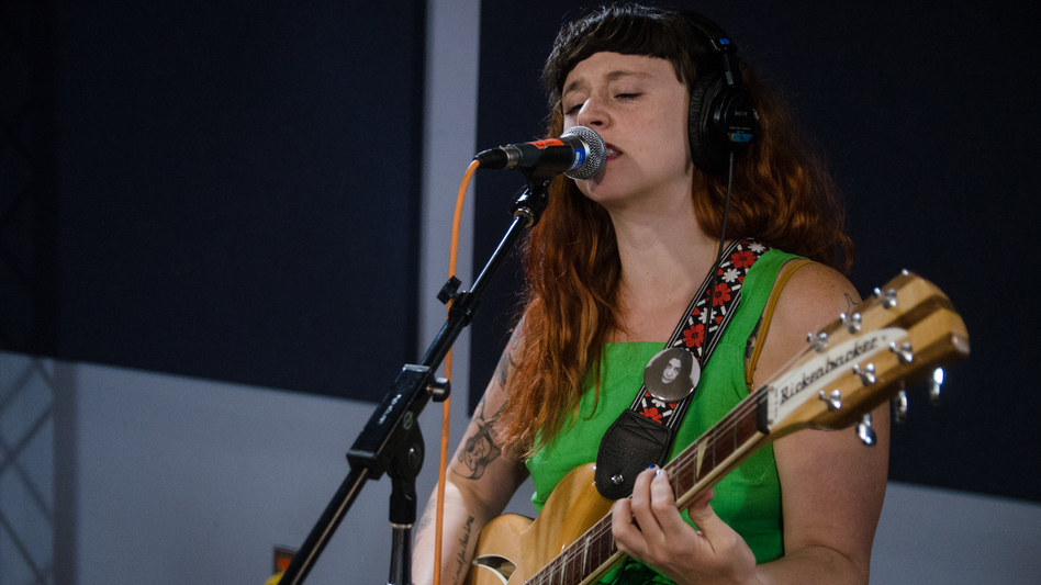 Katie Crutchfield of P.S. Eliot plays live in the WXPN studios. (WXPN)
