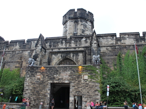 The hulking, shuttered Eastern State Penitentiary, a short walking distance from Philadelphia's downtown, was in many ways the first modern American prison. Almost from its opening in the early 19th century, there were people calling for it, and prisons like it, to be shut down because they felt they were inhumane.