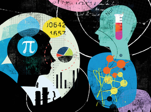 A study of 17 people who had been blind since birth found that areas of the brain usually devoted to visual information become active when a blind person is solving math problems.
