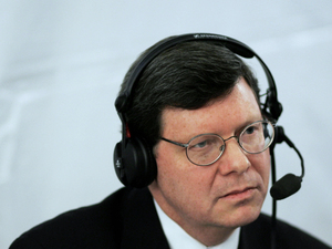 Charlie Sykes of WTMJ in Milwaukee, Wisc., shown here broadcasting in 2006, wonders how the conservative movement he belonged to could have chosen Donald Trump as its leader.
