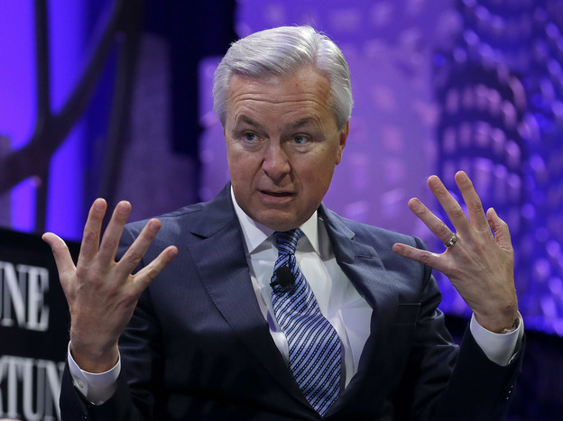 John Stumpf, chairman and CEO of Wells Fargo. Stumpf testifies today before the Senate Banking Committee about his bank employees opening unauthorized customer accounts.