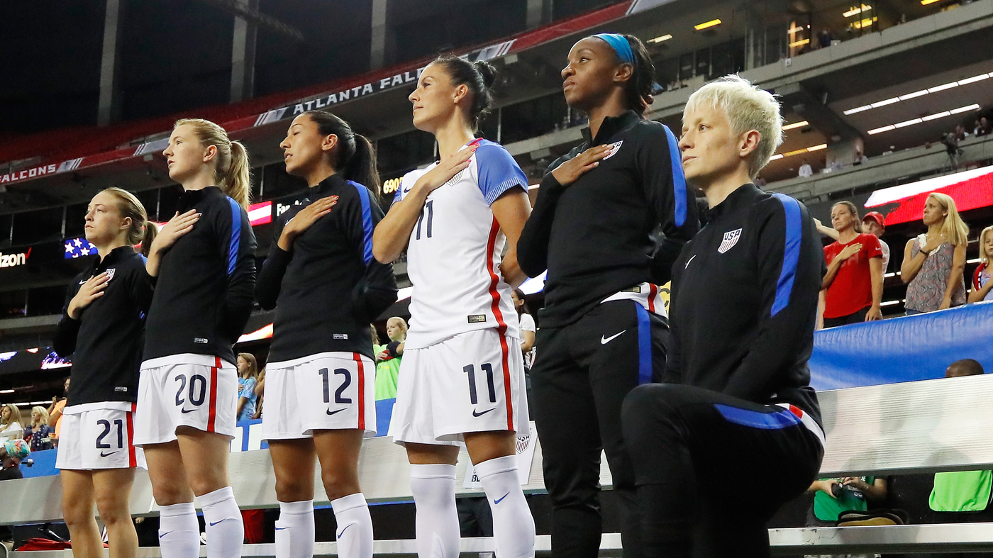 Player Protests When Athletes Stand Up Or Kneel For