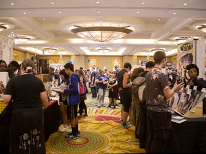 The main floor at SPX is where independent artists have tables next to larger well-known publishers like Drawn & Quarterly or Fantagraphics Books.
