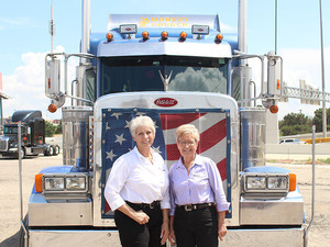 Idella Hansen and Sandi Talbott, at an annual trucking convention in Dallas.