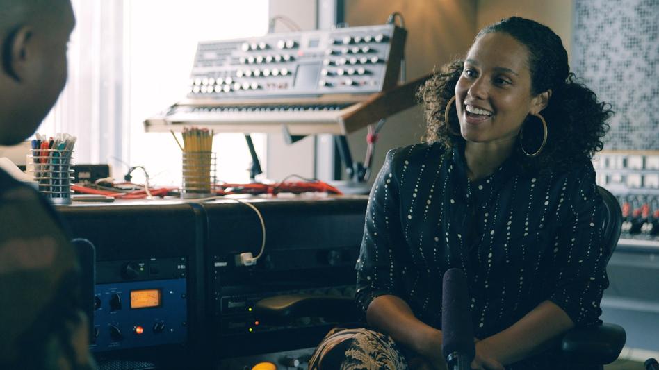 Alicia Keys speaks with Noteworthy's Jason King at Jungle City Studios in New York City. (NPR)
