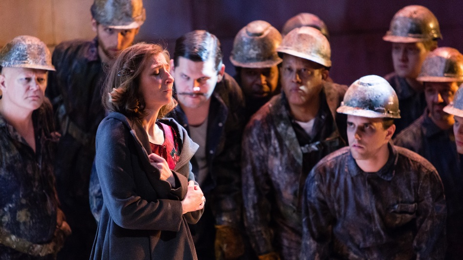 Breaking the Waves explores the relationship between a deeply religious young woman named Bess (played by Keira Duffy) and a Nordic oil worker named Jan. (Opera Philadelphia)