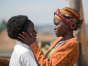Madina Nalwanga and Lupita Nyong'o star in Queen of Katwe, directed by Mira Nair.