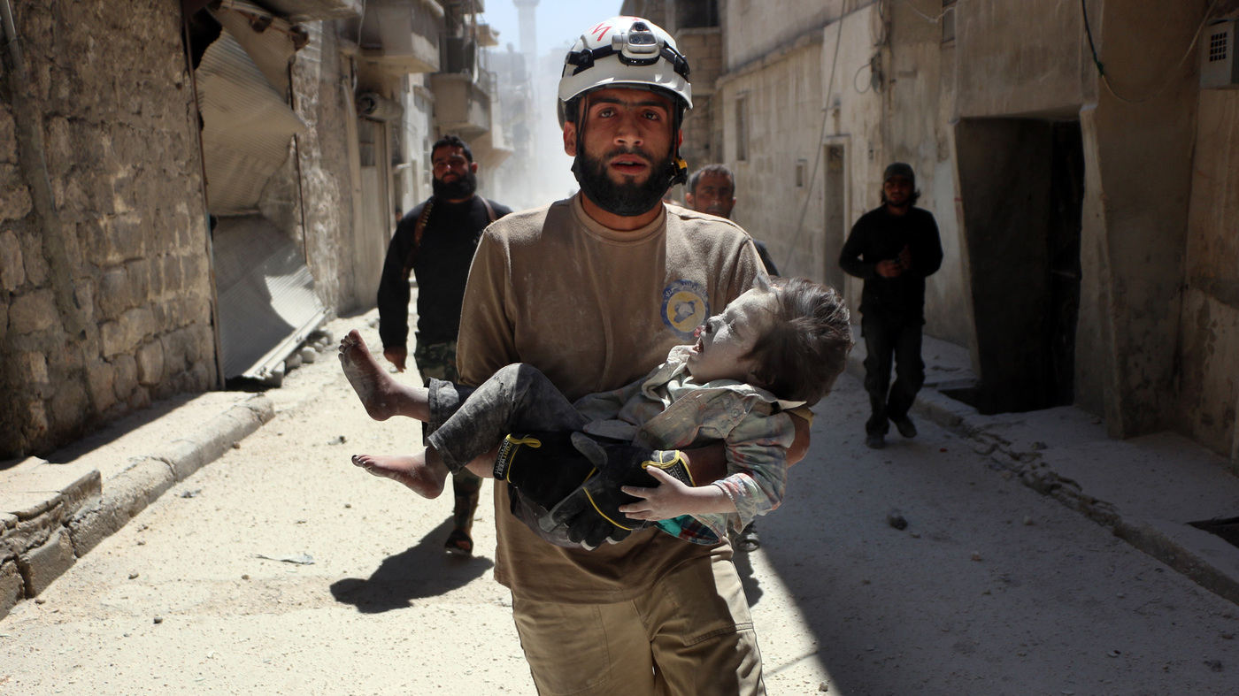 Behind The Camera For Netflix's 'White Helmets,' A Young Syrian With A Dream : Goats and Soda : NPR