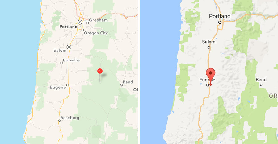 Where Did National Forests Go Green Spaces Disappear From Google - Google maps oregon