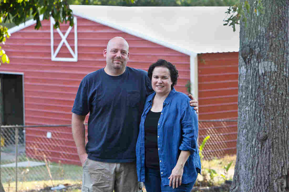 Greg and Ana Kelly, founders and owners of Dayspring Dairy, a sheep farm in Alabama.