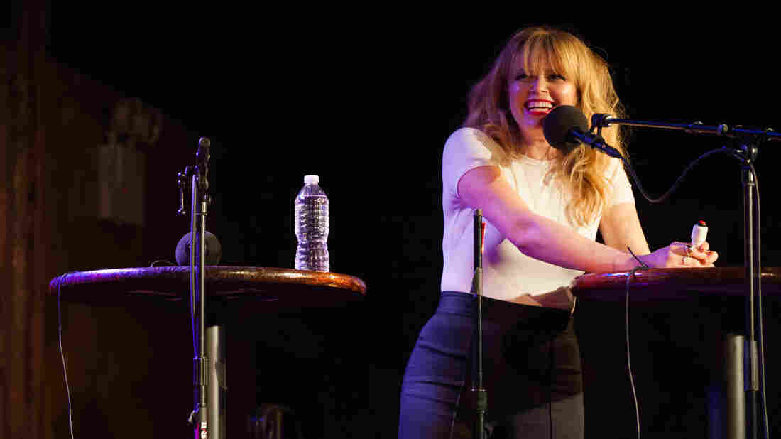 Natasha Lyonne appears on NPR's Ask Me Another at the Bell House in Brooklyn, New York.