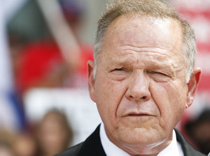 Alabama Chief Justice Roy Moore at a news conference in Montgomery, Ala., on Aug. 8.