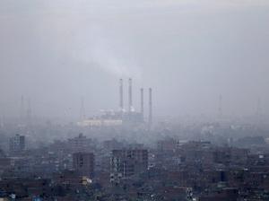 Smog blankets Cairo, Egypt, in 2012.
