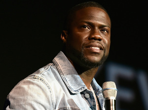 Kevin Hart was the most successful comedian last year. He's seen here speaking at the official convention of the National Association of Theatre Owners, in Las Vegas.