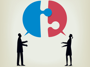 Two people disagree and fail to communicate