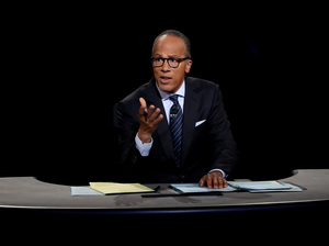 Lester Holt did indeed fact-check the candidates last night. But did it do anything?