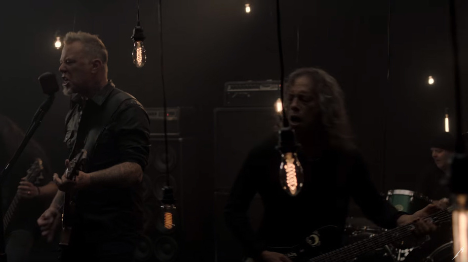 "A still from Metallica's ""Moth Into Flame"" video. (Courtesy of the artist)"