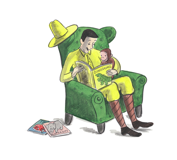 "Aspects of Curious George's story are no doubt problematic — George was taken from his home ""in Africa"" by the Man with the Yellow Hat, who thought to himself, ""What a nice little monkey ... I would like to take him home with me."""