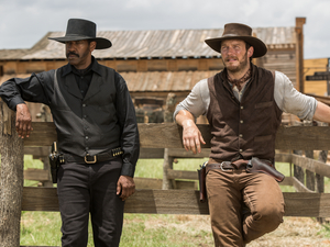 Denzel Washington and Chris Pratt in Antoine Fuqua's remake of The Magnificent Seven.