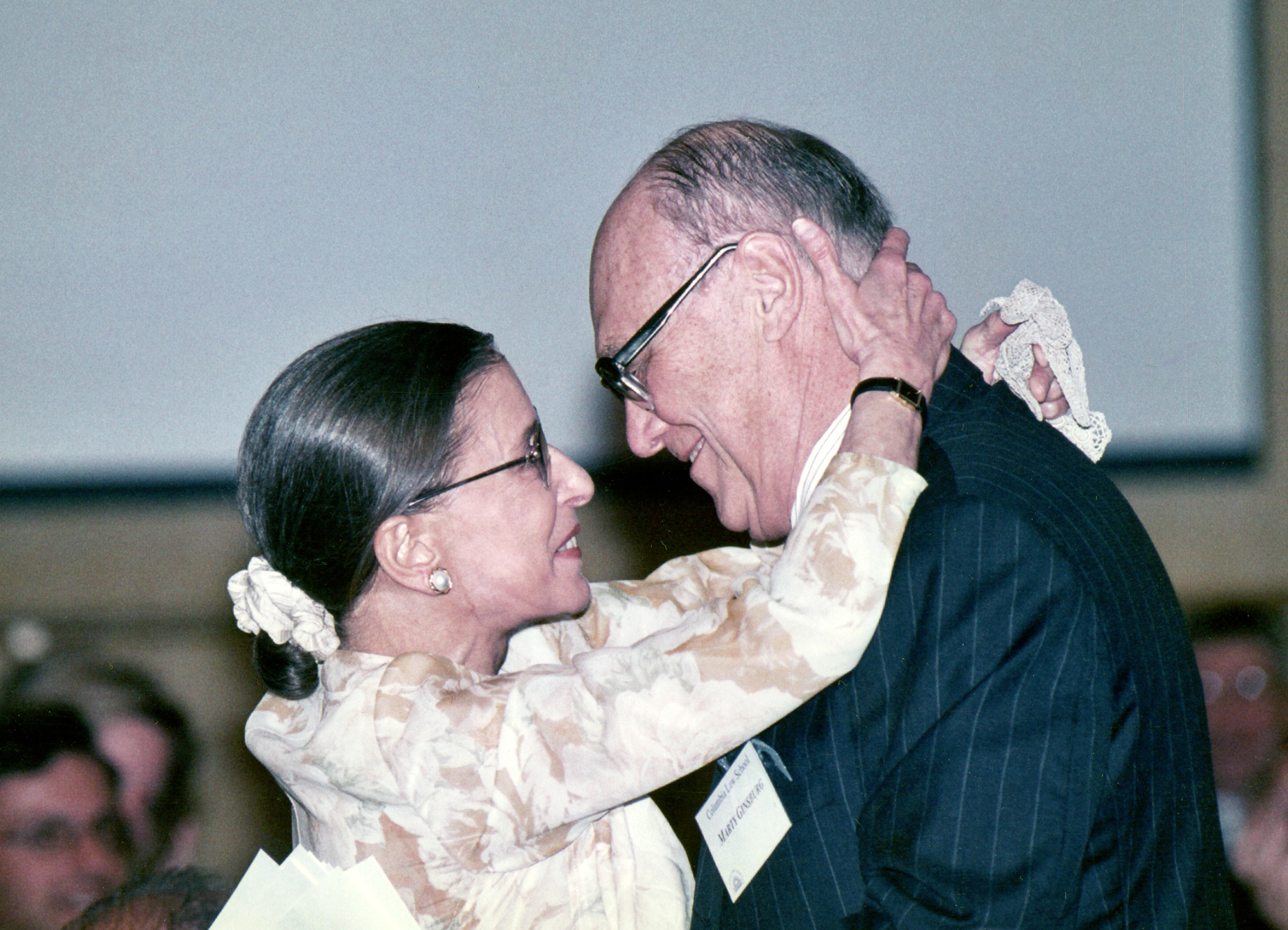 Justice Ginsburg and her husband, Marty, embrace while attending an event. Courtesy of Justice Ginsburg's Personal Collection/Simon & Schuster
