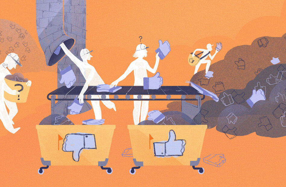 How does Facebook decide when to take down controversial images and posts? (Chelsea Beck/NPR)