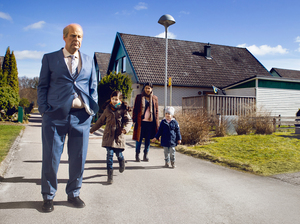 Rolf Lassgård, left, stars as a grouchy widower in A Man Called Ove, which opens Friday in U.S. theaters.