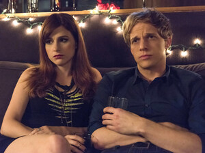 Gretchen (Aya Cash) is a self-centered music publicist who falls in love Jimmy (Chris Geere) in the FXX series You're the Worst.