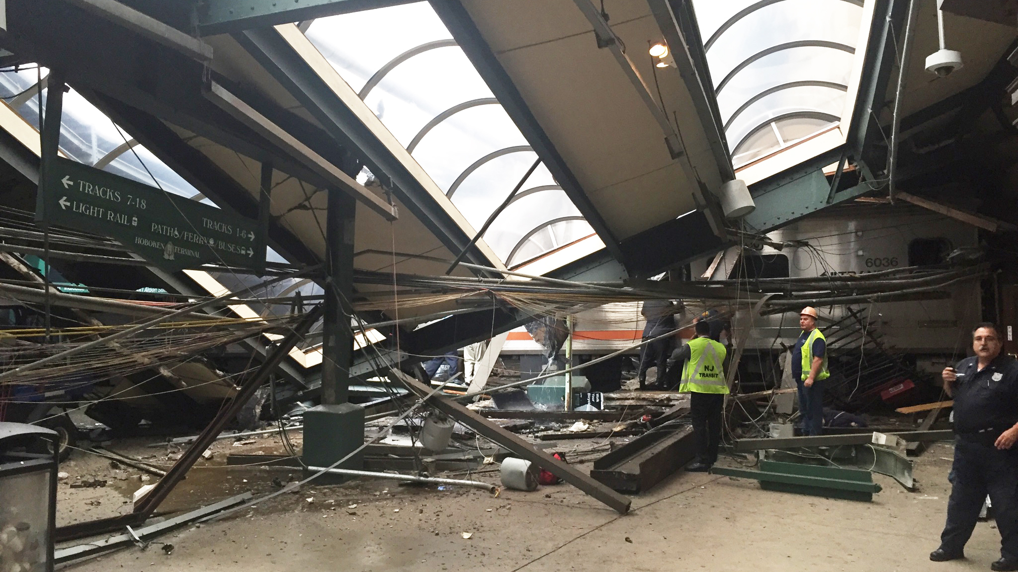 It Was Going Full Full Force Train Crashes Into Hoboken Terminal Killing 1 The Two Way Npr