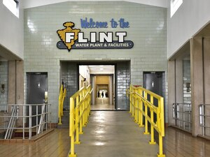 The interior of the Flint water plant is seen on Sept. 14, 2016 in Flint, Mich. The city is still struggling to replace thousands of corroded lead pipes that tainted drinking water.