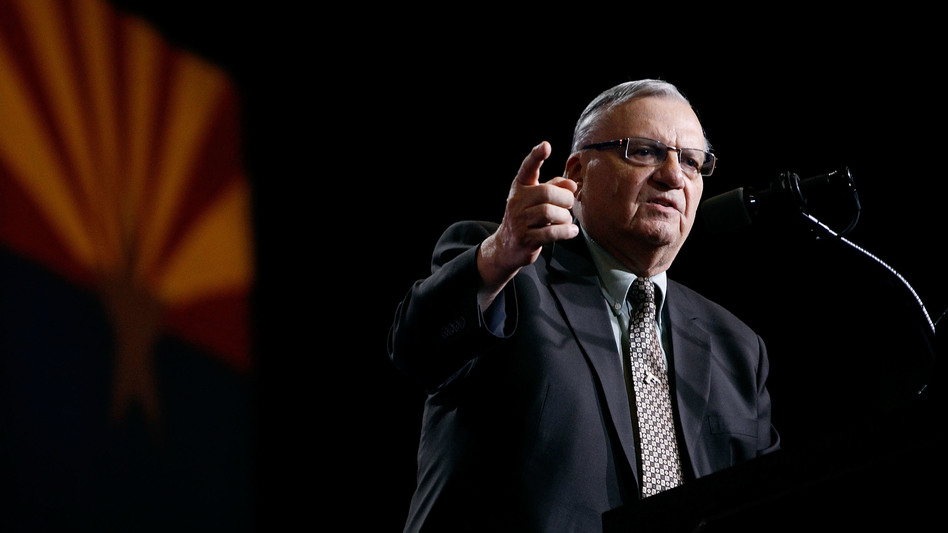 Maricopa County Sheriff Joe Arpaio campaigns for Donald Trump in Phoenix in August. (Ralph Freso/Getty Images)