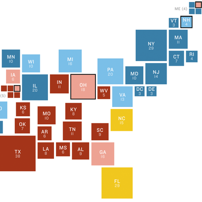 NPR Battleground Map: Clinton Tide Rises Again