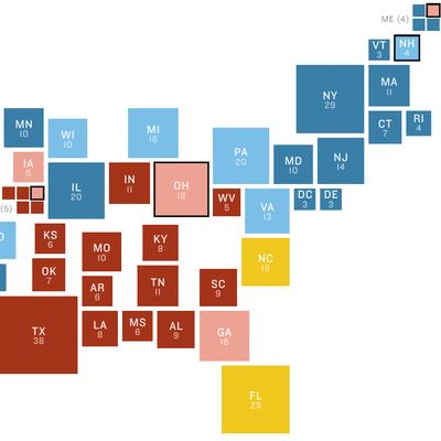 NPR Battleground Map: Clinton Tide Rises Again