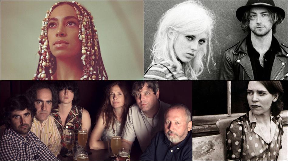 Clockwise from upper left: Solange, Black Honey, Gillian Welch, Major Stars (Courtesy of the artists)