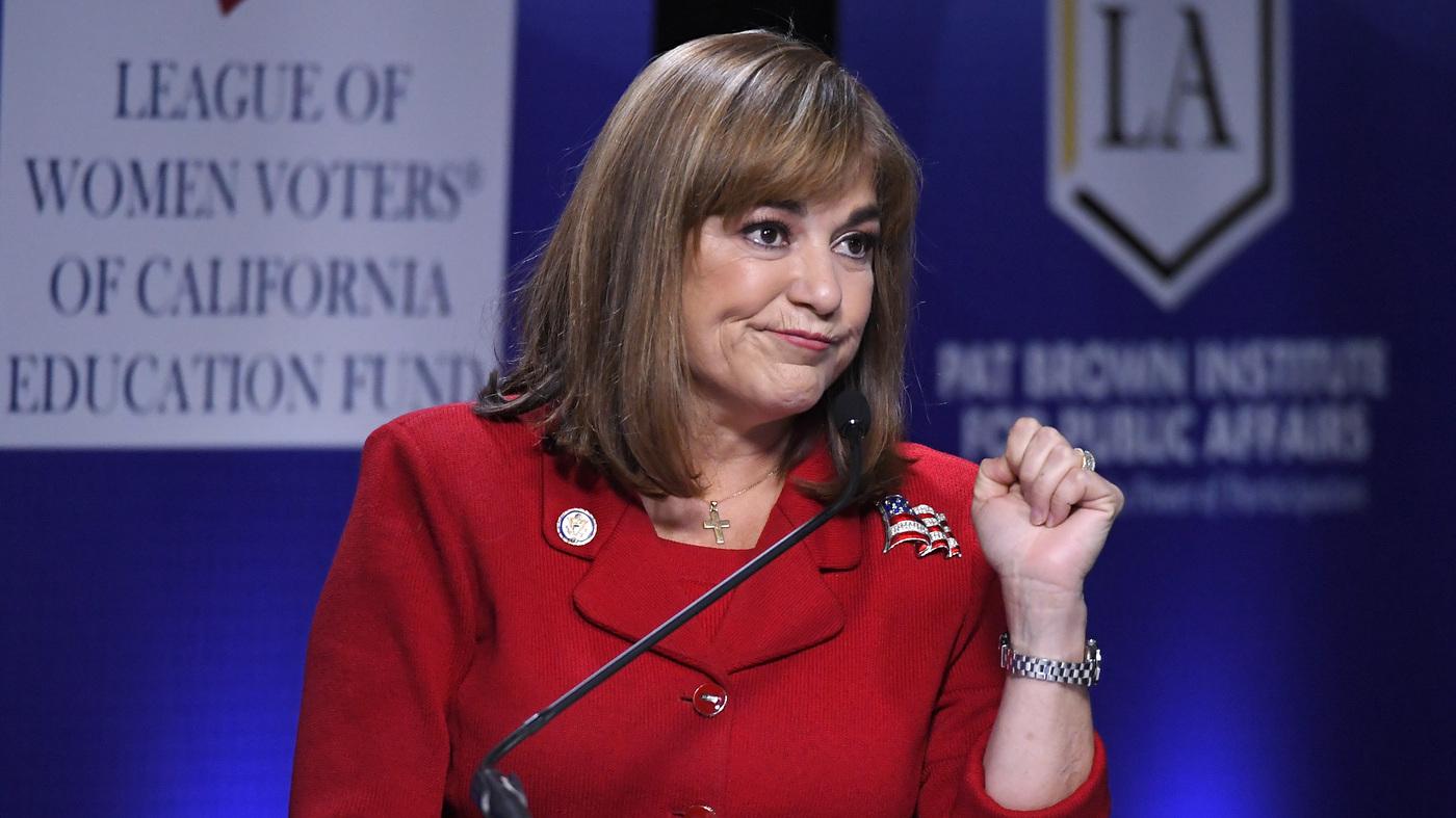 U S Rep Loretta Sanchez Dabbed At The End Of A Debate Npr