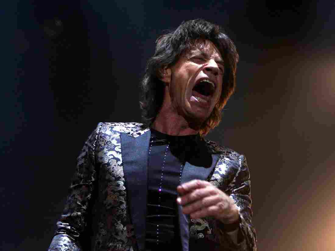 Mick Jagger performing live with The Rolling Stones