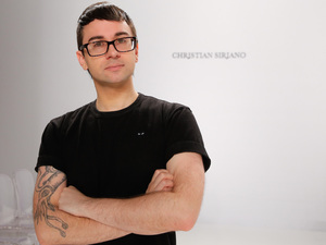 "Christian Siriano, seen here in April, says, ""Clothes and fashion should be fun and fabulous,"" not stressful."