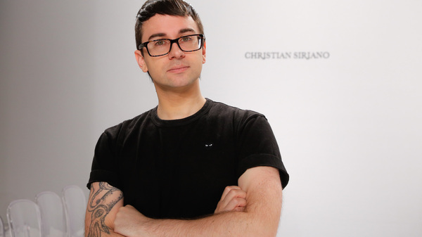 """Christian Siriano, seen here in April, says, """"Clothes and fashion should be fun and fabulous,"""" not stressful."""