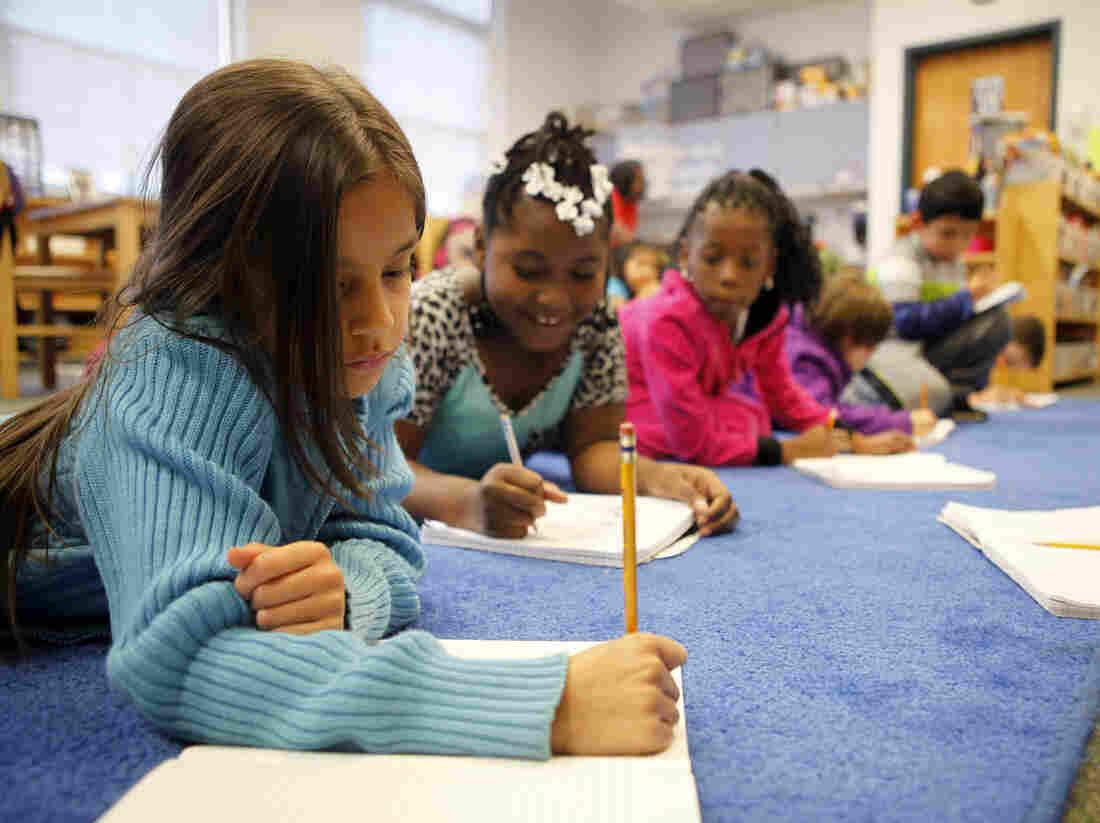 Students at George Watts Elementary School in Durham, N.C.