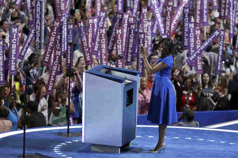 Siriano designed the dress first lady Michelle Obama wore to the Democratic National Convention in July.