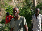 Pastor Louis Masil is trying to make the case that <em>his</em> village should be getting assistance even if the damage there wasn't the worst.