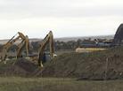 Work resumed Tuesday on the Dakota Access Pipeline, near St. Anthony, N.D.