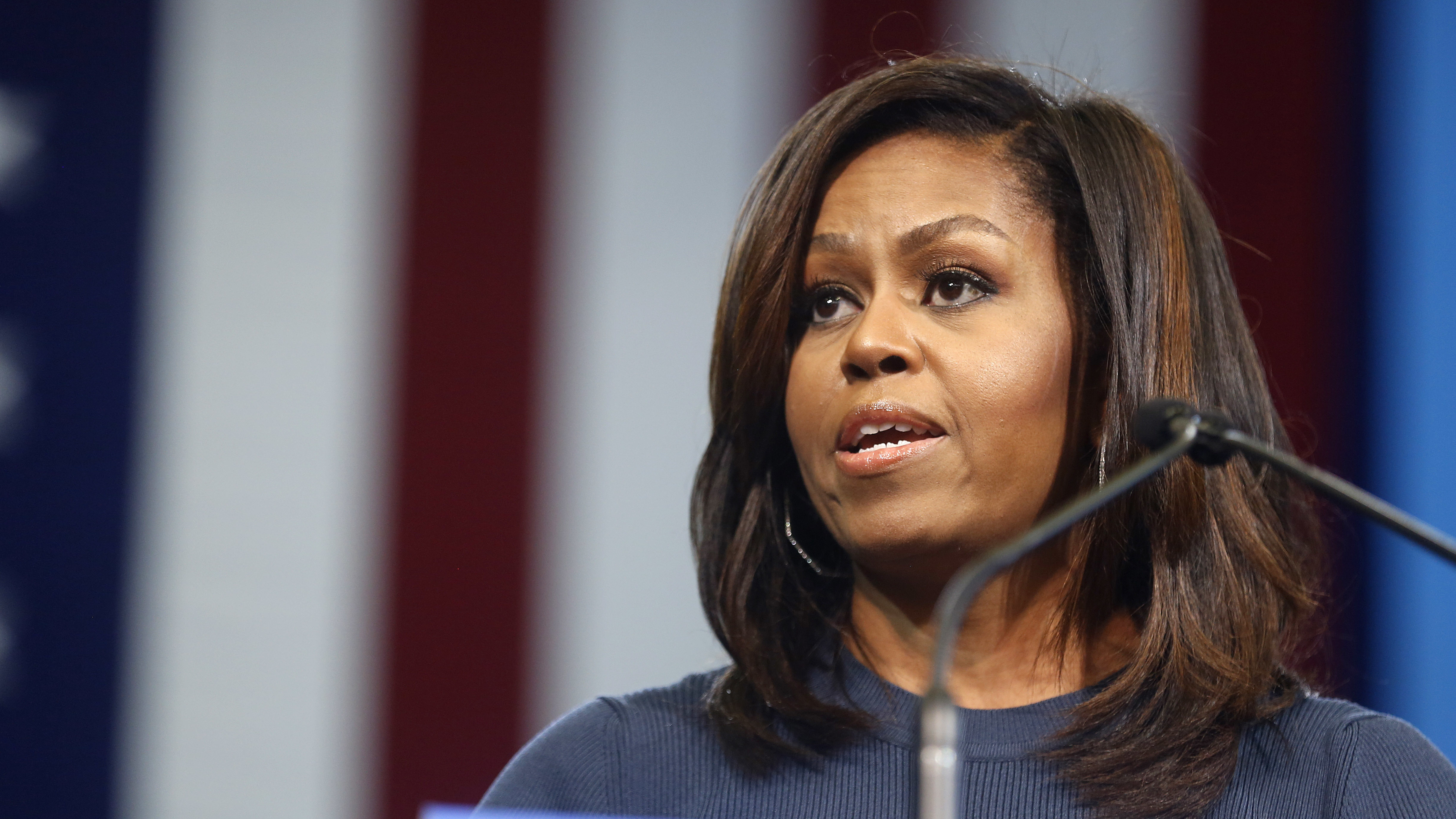 First Lady Michelle Obama Urges Voters To Support Hillary Clinton After  Trump Accusations : NPR