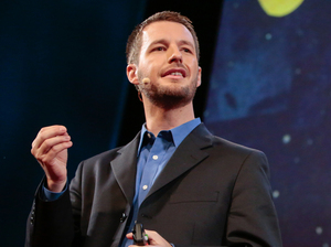 Neuroscientist Jeff Iliff speaking at the TEDMED conference.