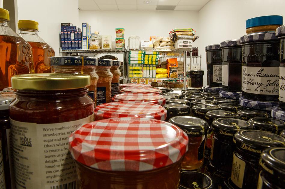 The George Washington University food pantry. (William Atkins/Courtesy of The George Washington University )