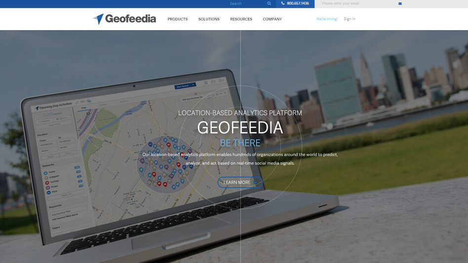 Twitter and Facebook have restricted access to users' data for Geofeedia, a data analytics firm, over privacy concerns. (Geofeedia/Screenshot by NPR)