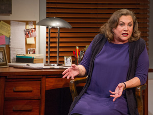 Kathleen Turner stars as Joan Didion in Arena Stage's production of The Year of Magical Thinking.